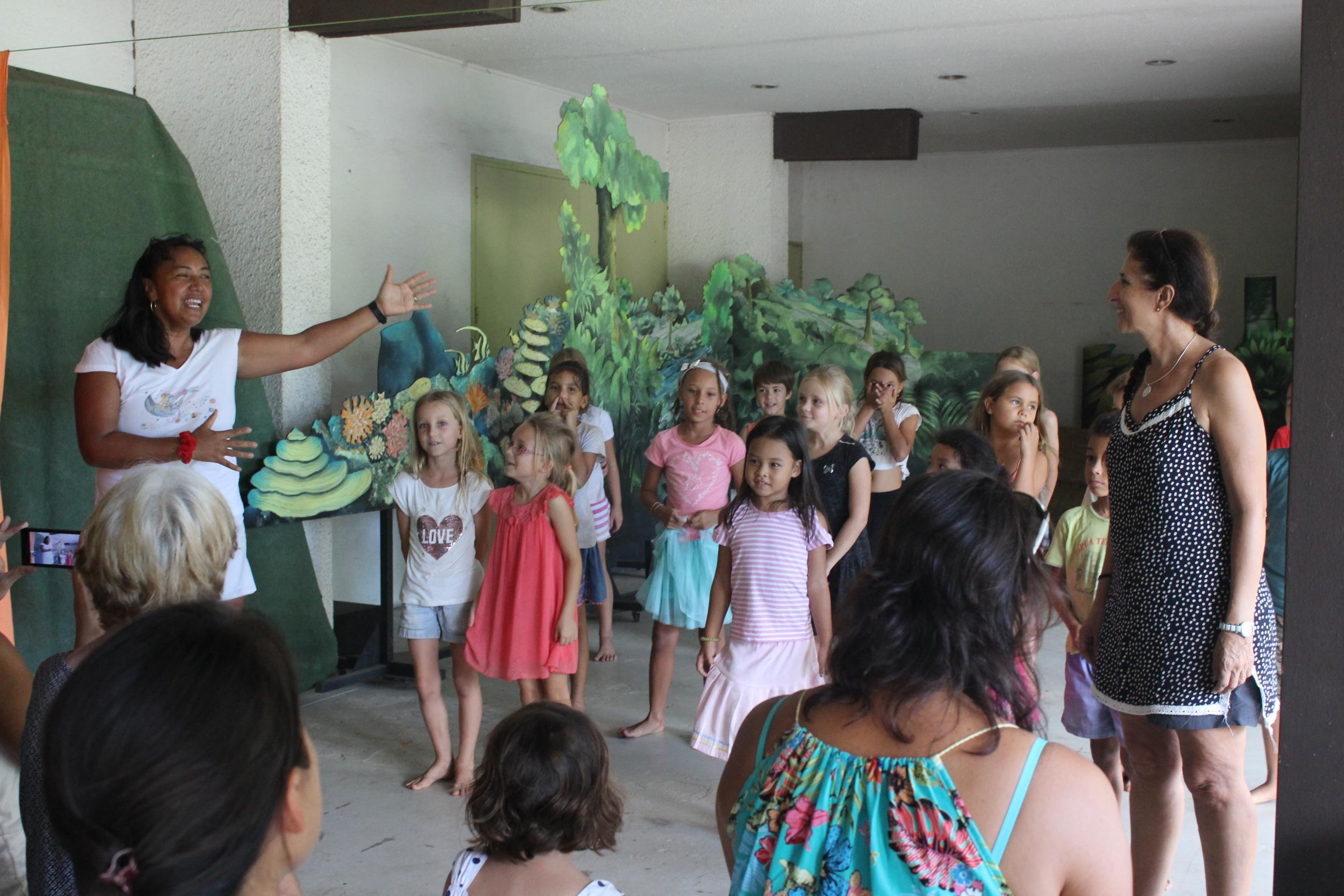 Une quinzaine d'enfants âgés de 5 à 10 ans ont participé au stage au Musée de Tahiti et des îles.