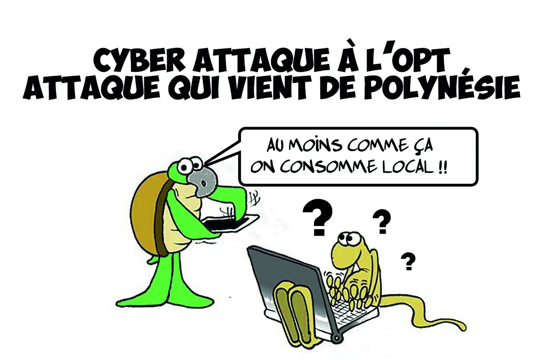 """ Cyberattaque locale "" par Munoz"