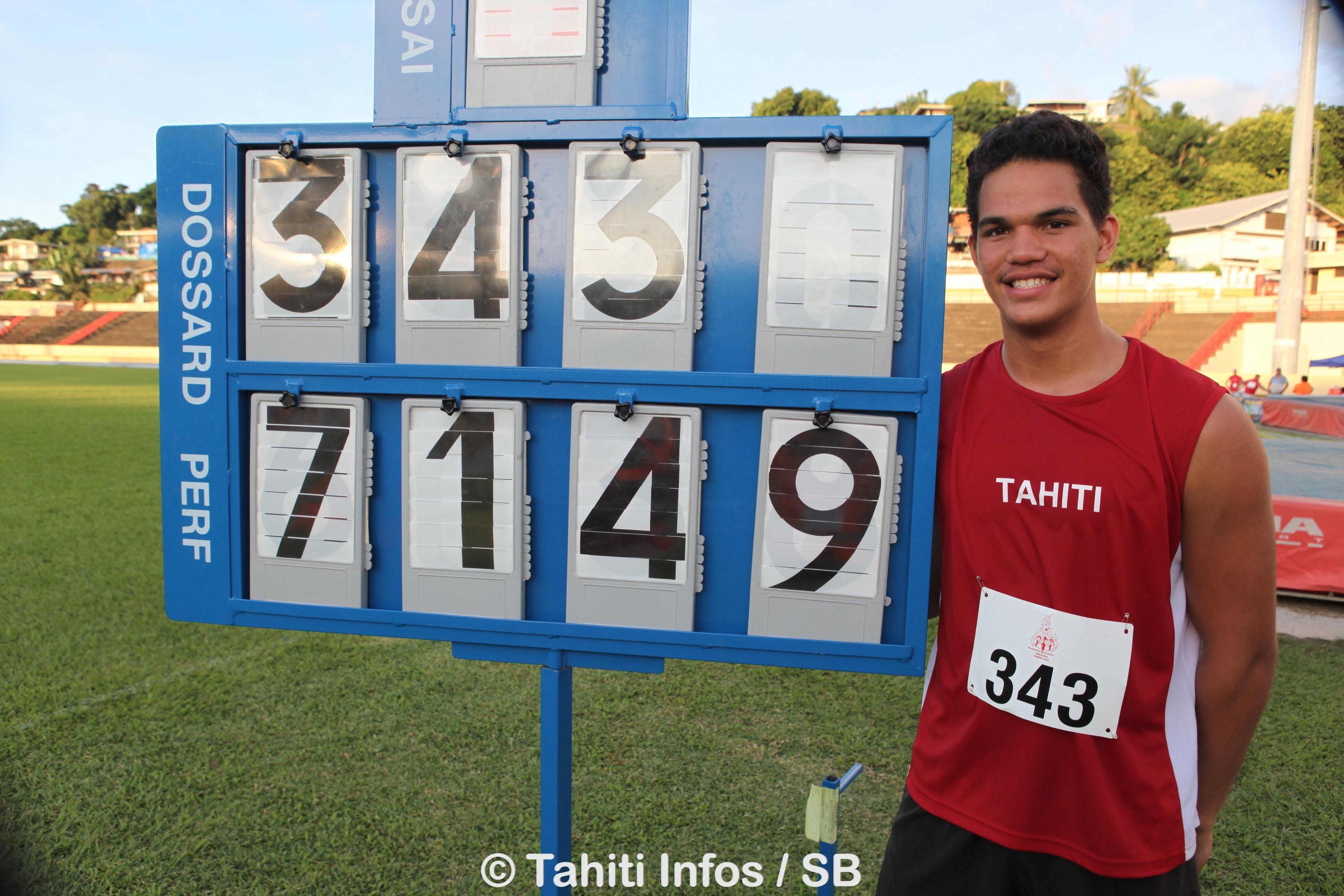 Teura Tupaia a fait un lancer en deça de ses meilleures performances mais il est champion de France junior quand même (archives)