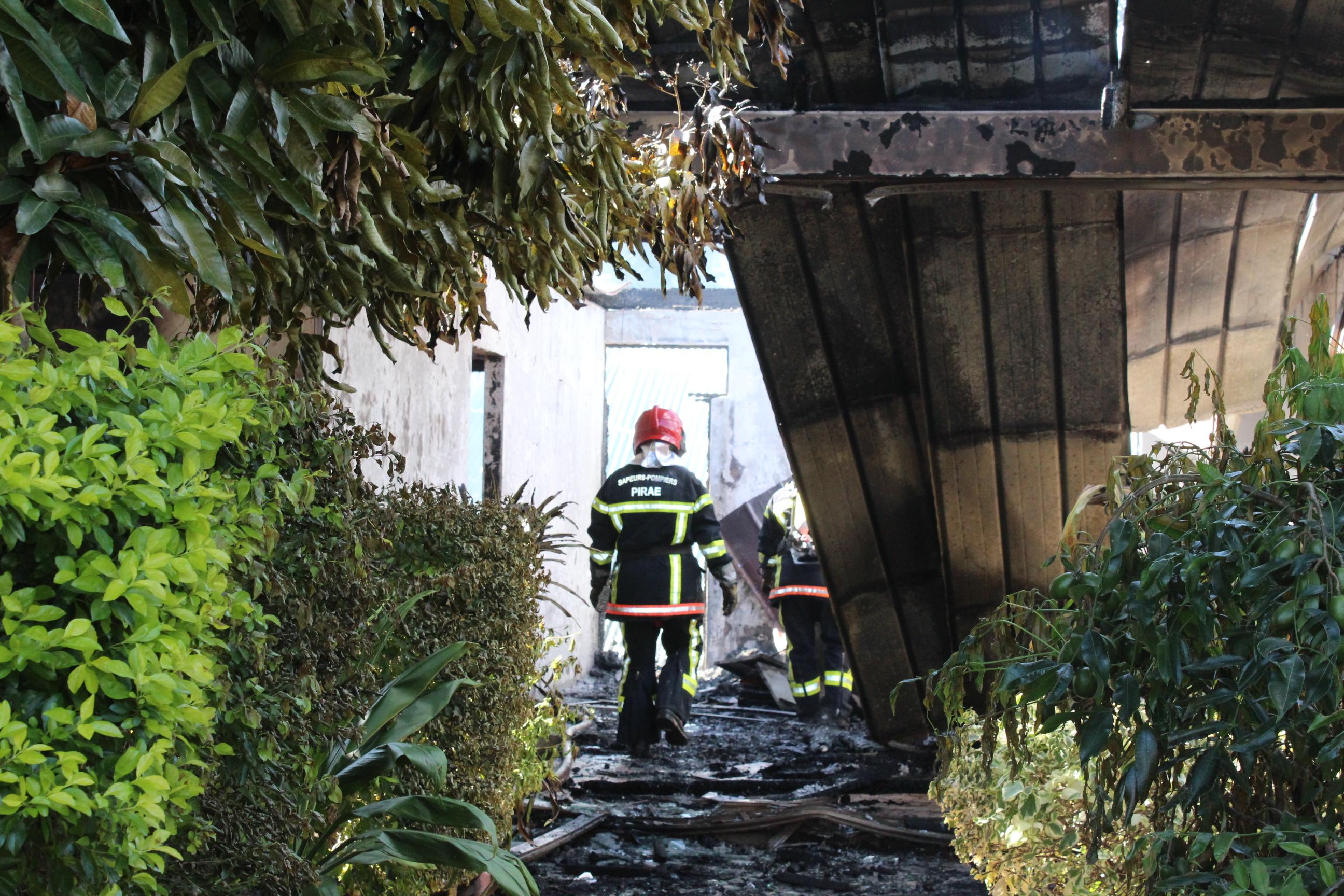 L'incendie a eu lieu près de la rue Gadiot à Pirae.