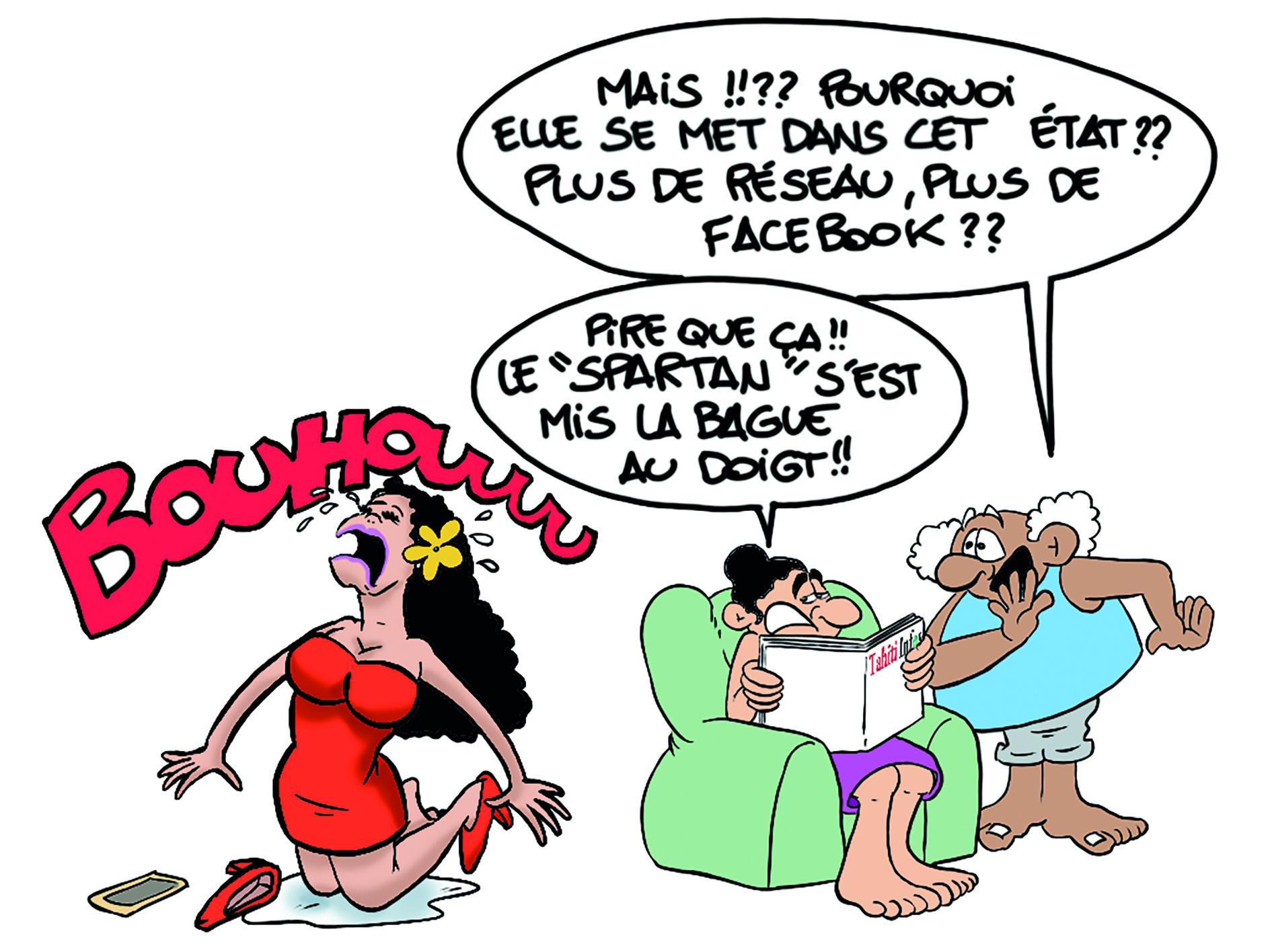 """"""" Le mariage de Michel Bourez """" par Munoz"""
