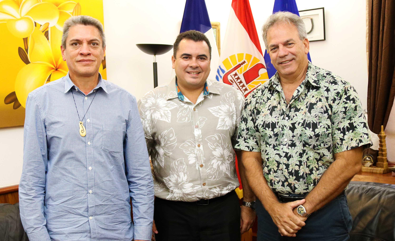 Teva Rohfritsch rencontre le Consul général de Nouvelle Zélande