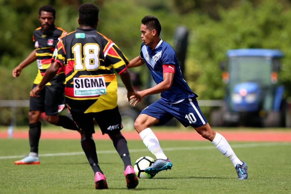 Teaonui Tehau a marqué deux fois lors du dernier match contre Madang © OFC