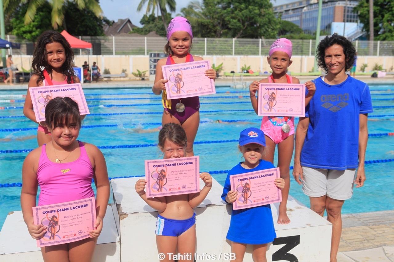 Laurence Lacombe était présente, elle est également une de nos grandes championnes de natation