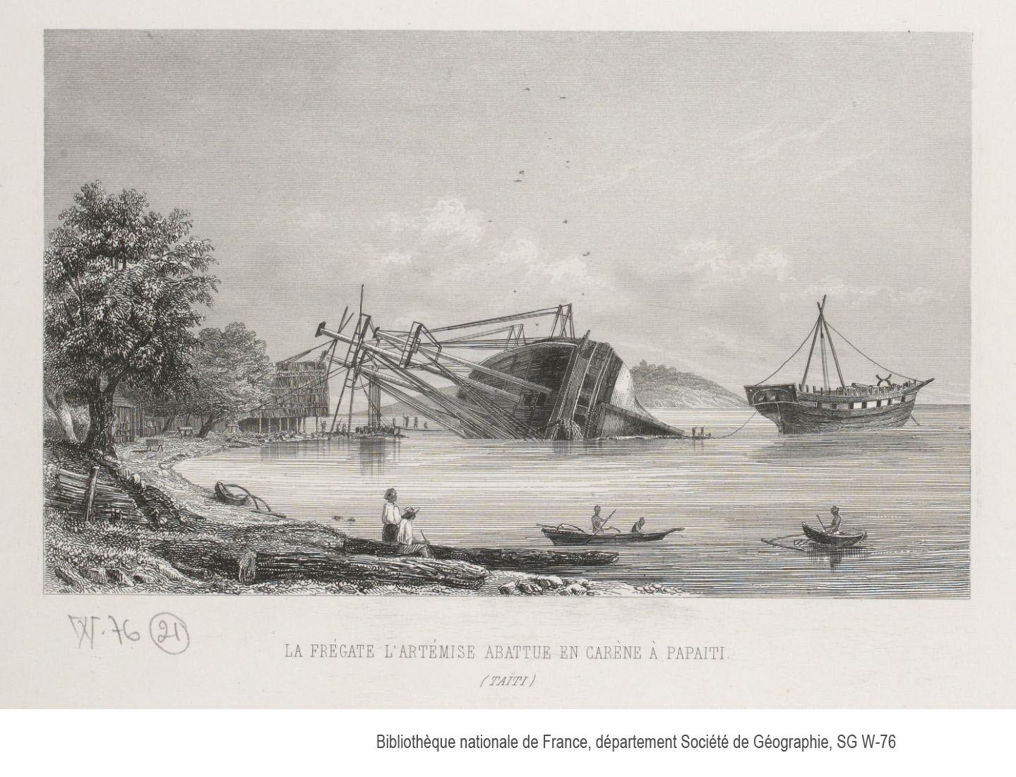 Le haut fait d'armes de Laplace a, incontestablement, été de sauver son bateau, L'Artémise, grâce à un échouage comme on n'en avait encore jamais vu à Motu Uta.