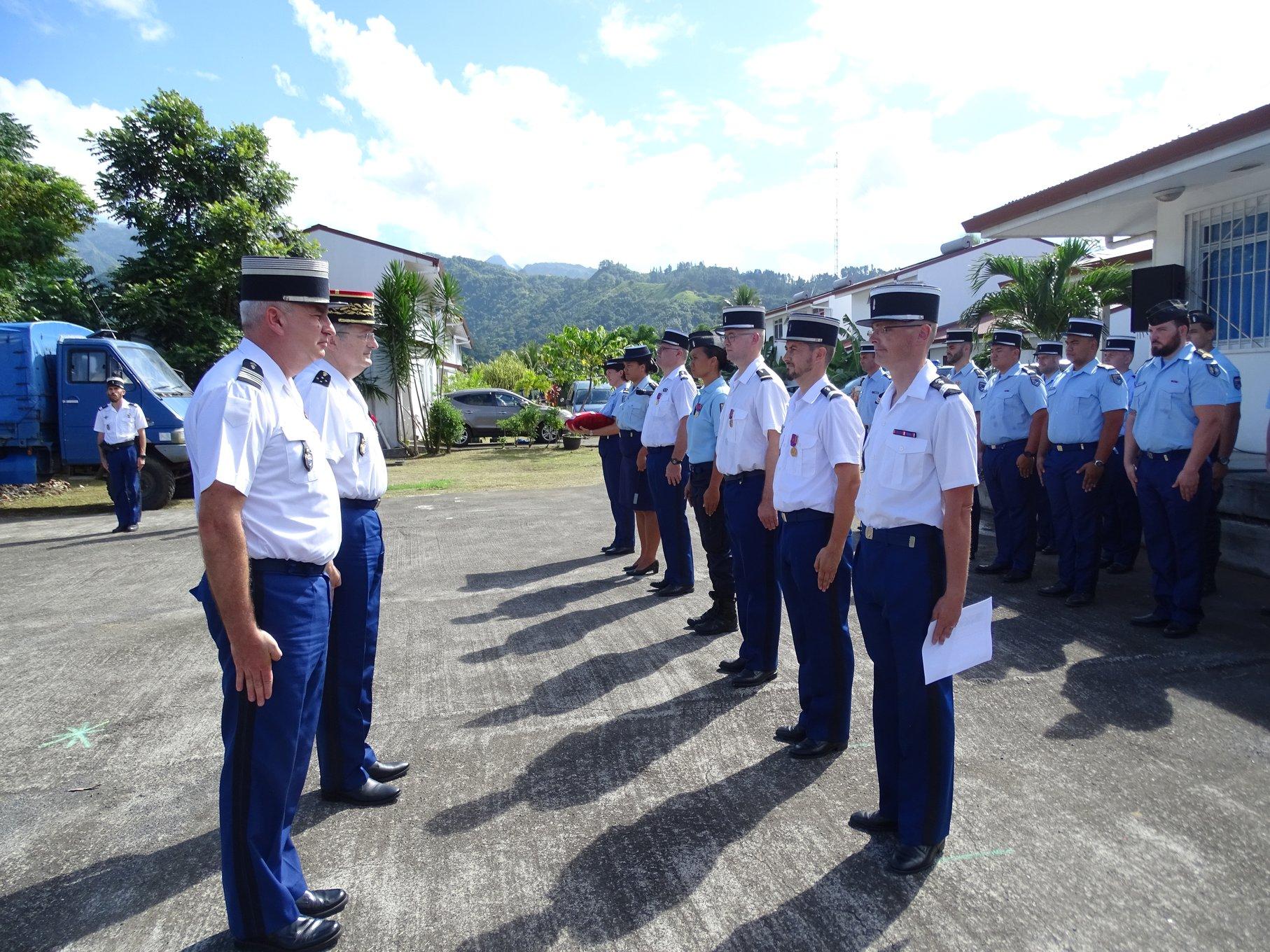 Des militaires de la brigade de Papara, récompensés pour leur engagement
