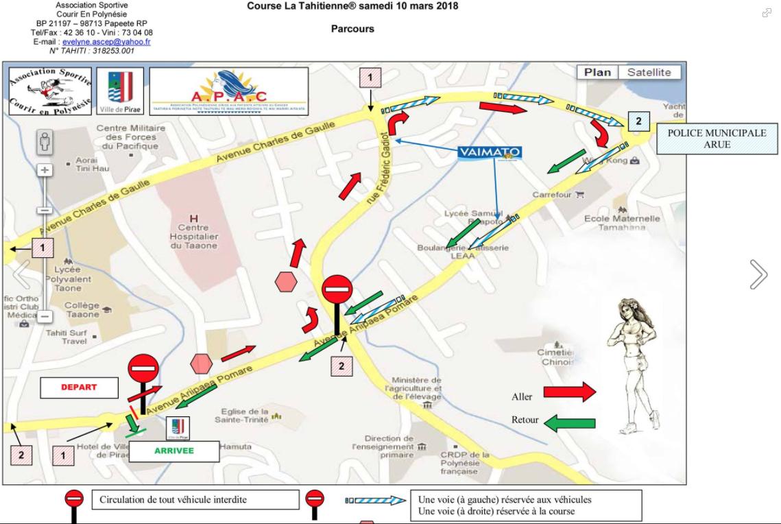 Course de la Tahitienne à Pirae: comment bien circuler?