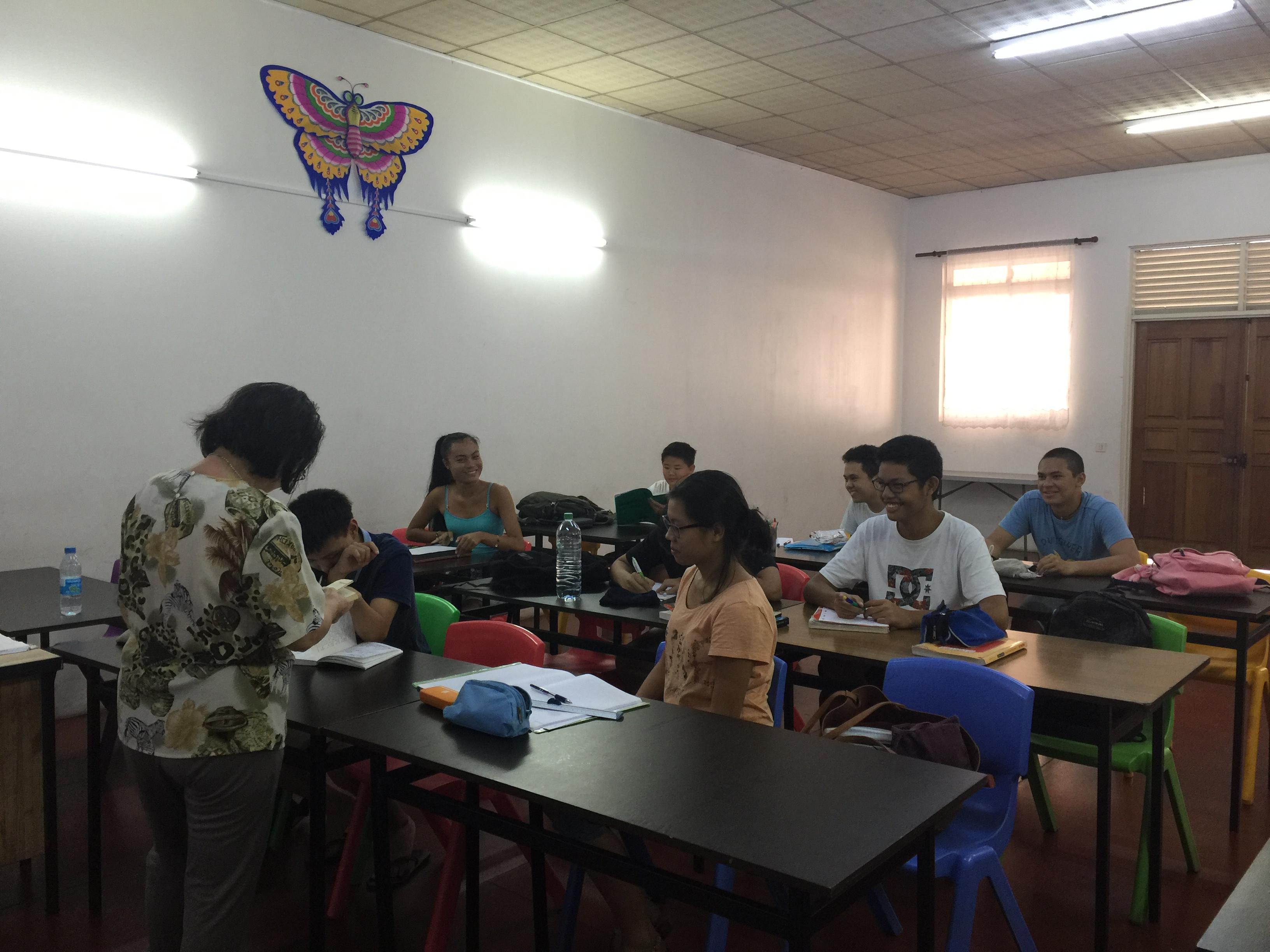 Des cours de mandarin sont également donnés.