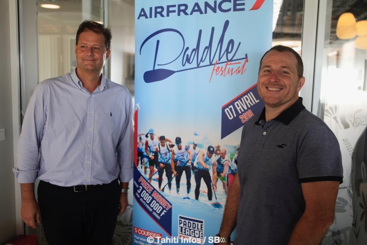 Alex Hervet, directeur régional d'Air France et Jérôme Loisel