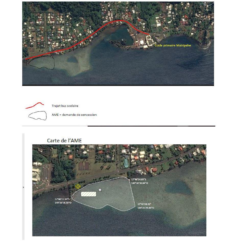 Le site qui a été choisi se trouve à quelques pas du collège de Teva i Uta, en face de la résidence Vahoata.