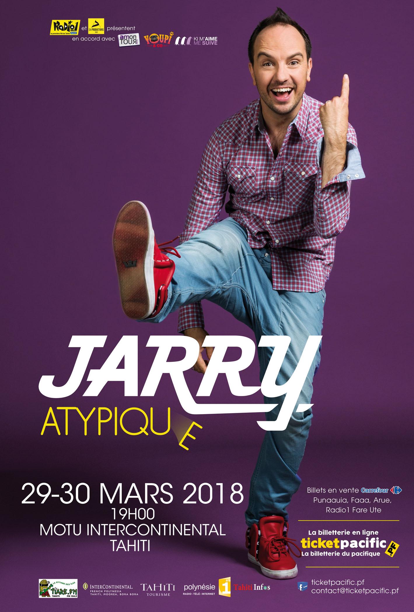 """Jarry : """"Sur les deux heures de spectacle, j'ai au moins 30 minutes d'impro"""""""