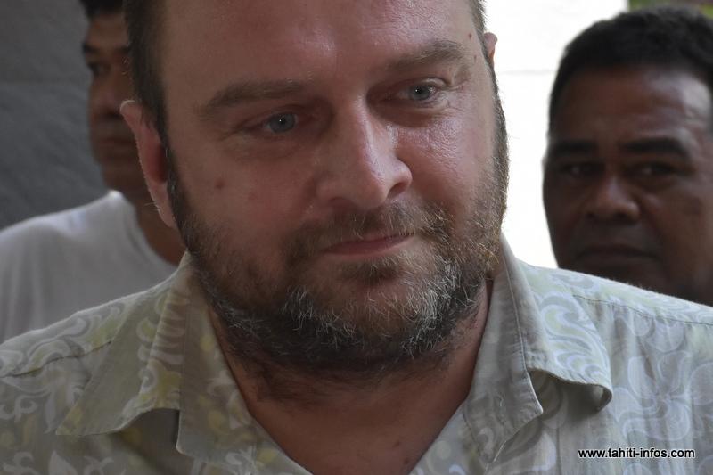 Jérôme Gasior, tête de la liste Union Polynésienne Républicaine pour les élections territoriales du 22 avril 2018.