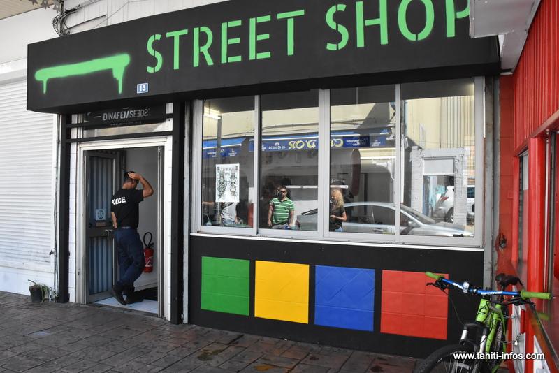 Le Street Shop perquisitionné et placé sous scellés