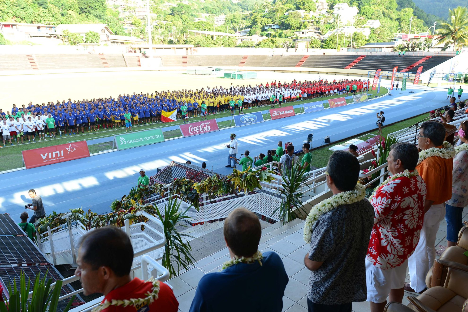 Les délégations défilent aux couleurs de leur archipel @kirvanb