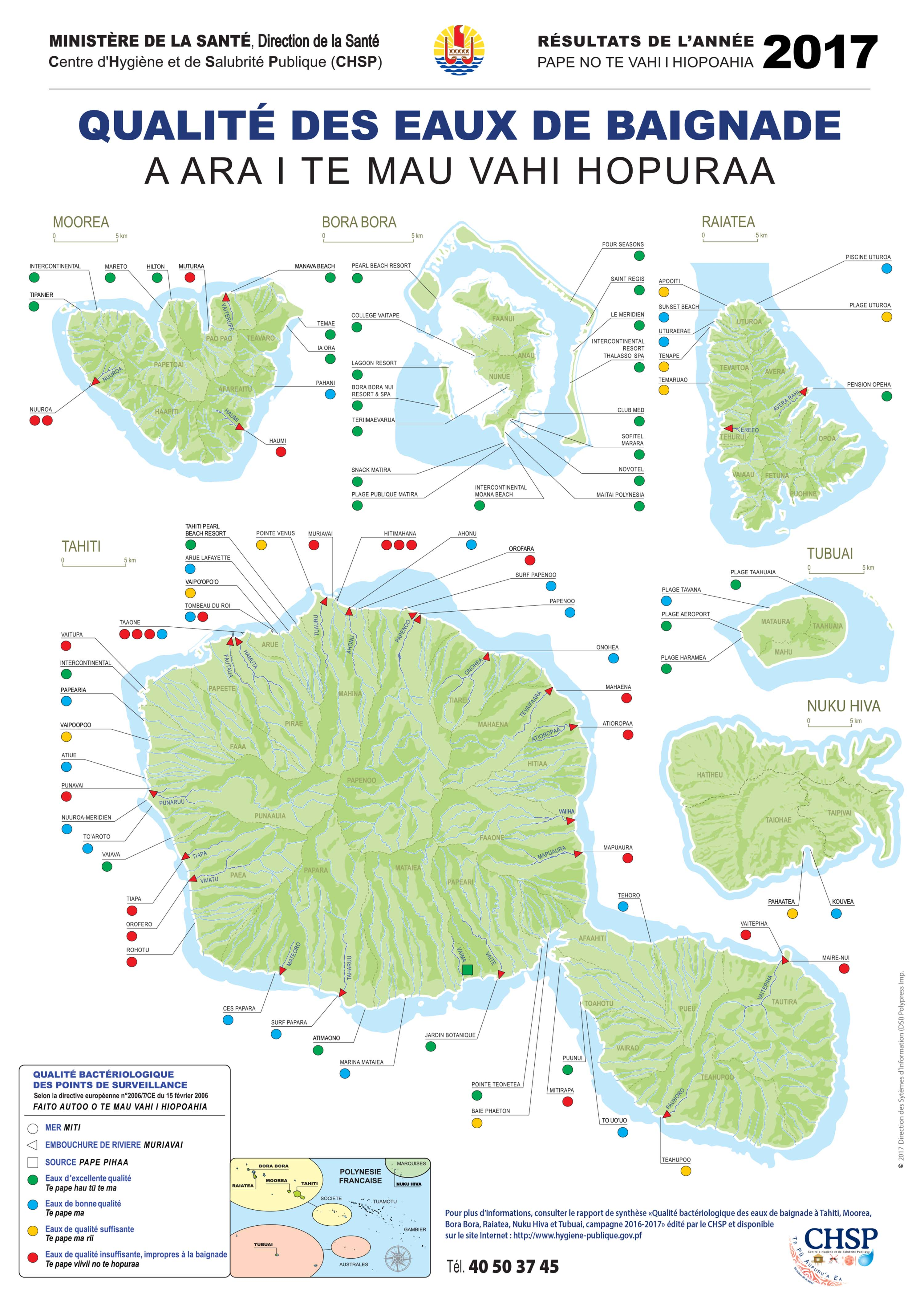 42% des plages de Tahiti impropres à la baignade