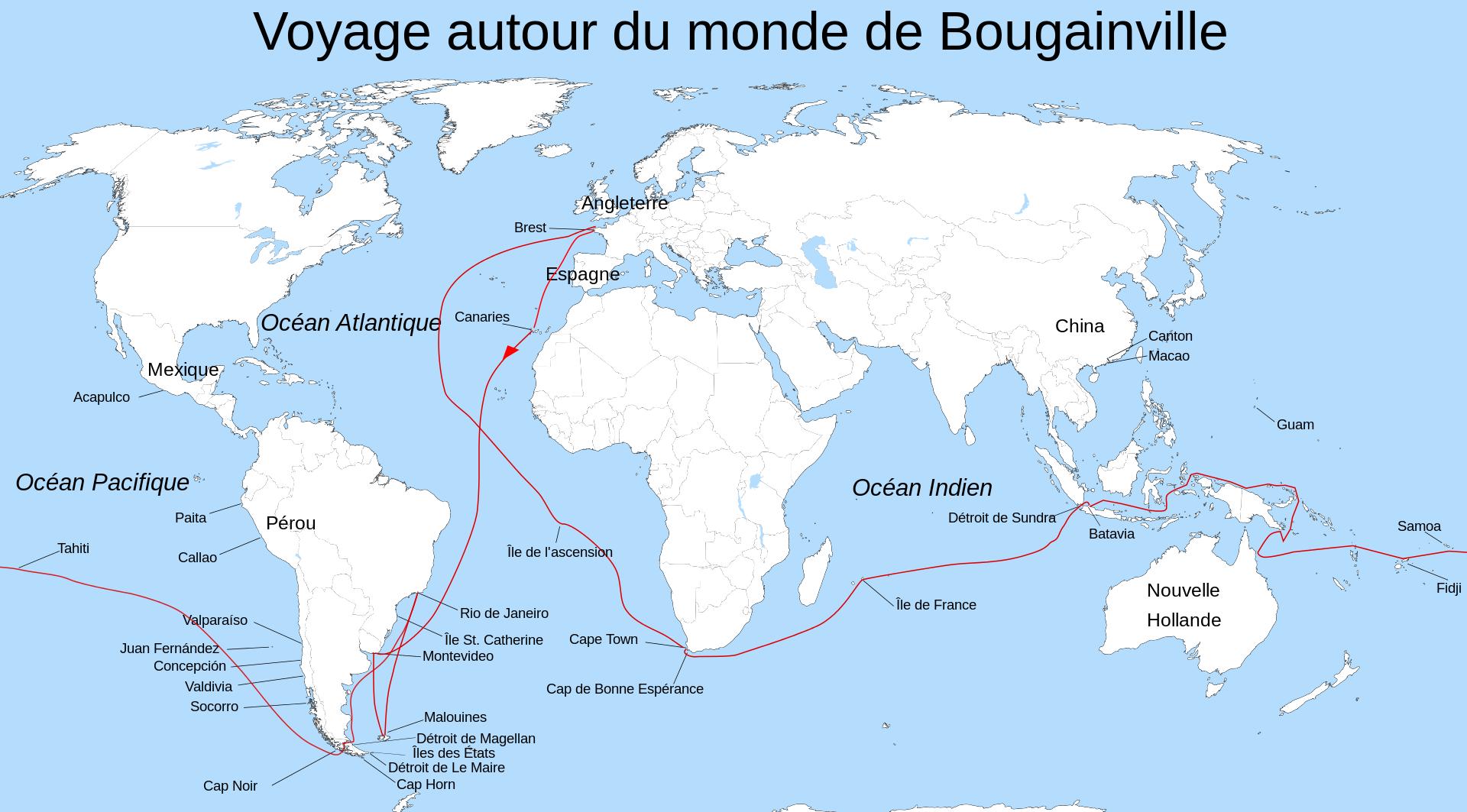 Le 6 avril 1768 Bougainville jeta l'ancre à Hitiaa, c'était il y a 250 ans