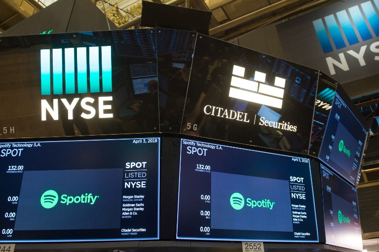 Spotify, roi du streaming, a fait ses premiers pas en Bourse