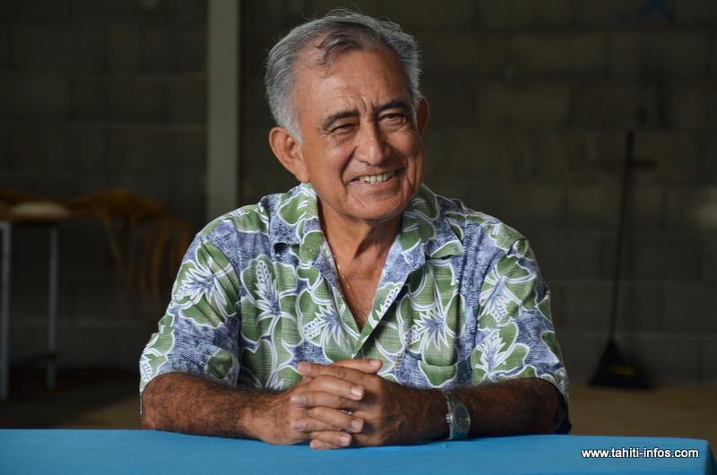 Oscar Temaru, tête de liste du Tavini Huiraatira pour les élections territoriales de 2018 (Photo d'archives Tahiti Infos, 17 février 2016).