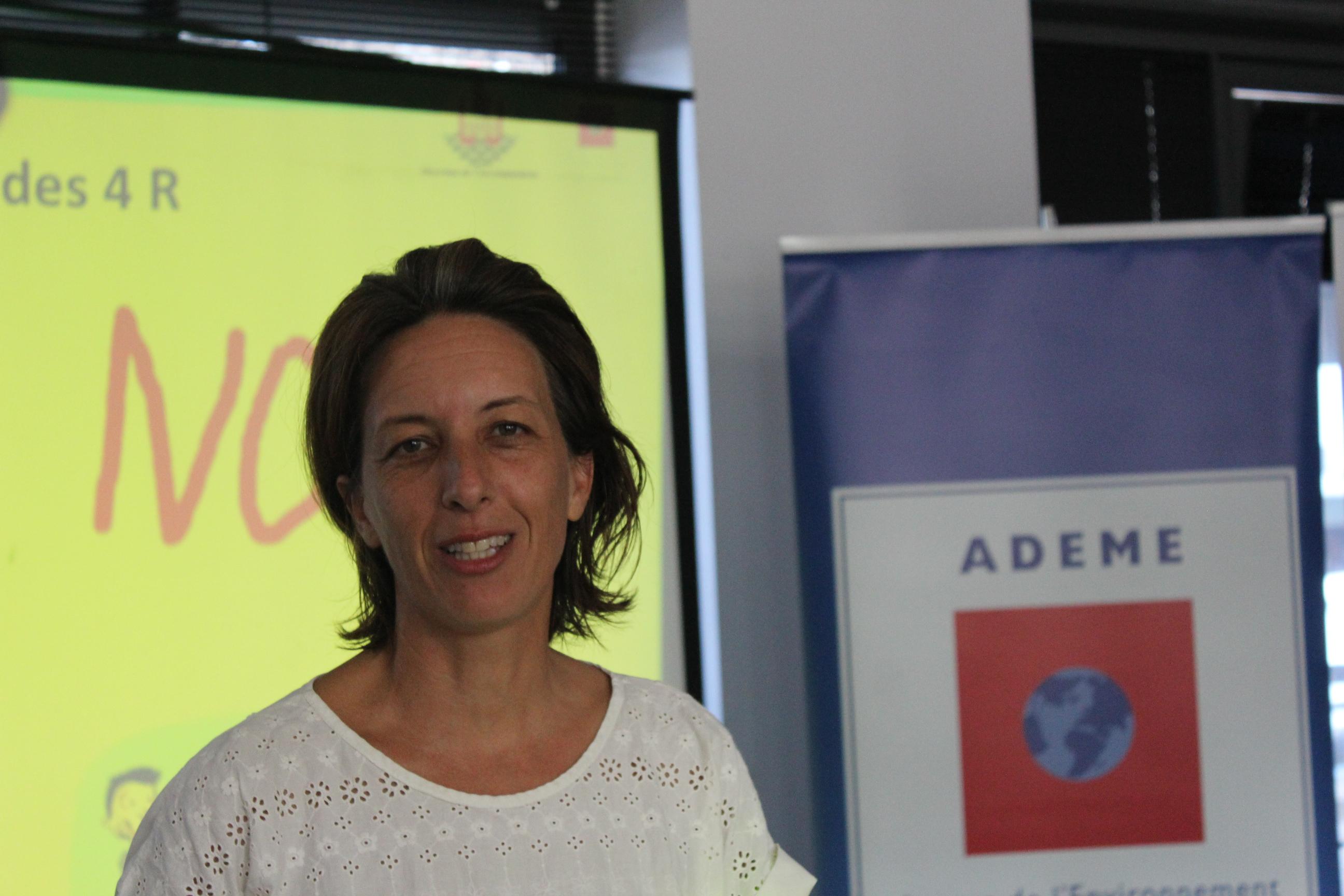 Sarah Dukhan, coordinatrice de  l'opération Zéro déchet en Polynésie.