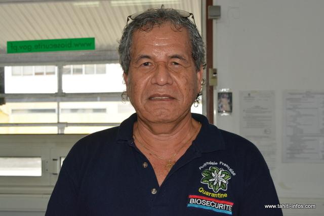 Rodolphe Putoa, directeur adjoint de la Direction de biosécurité.