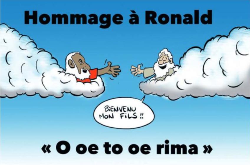 """"""" Hommage à Ronald """" par Munoz"""
