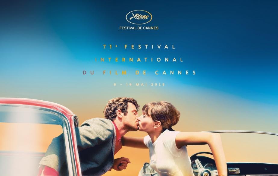 """Cannes: un baiser tiré du film """"Pierrot le fou"""" à l'affiche"""
