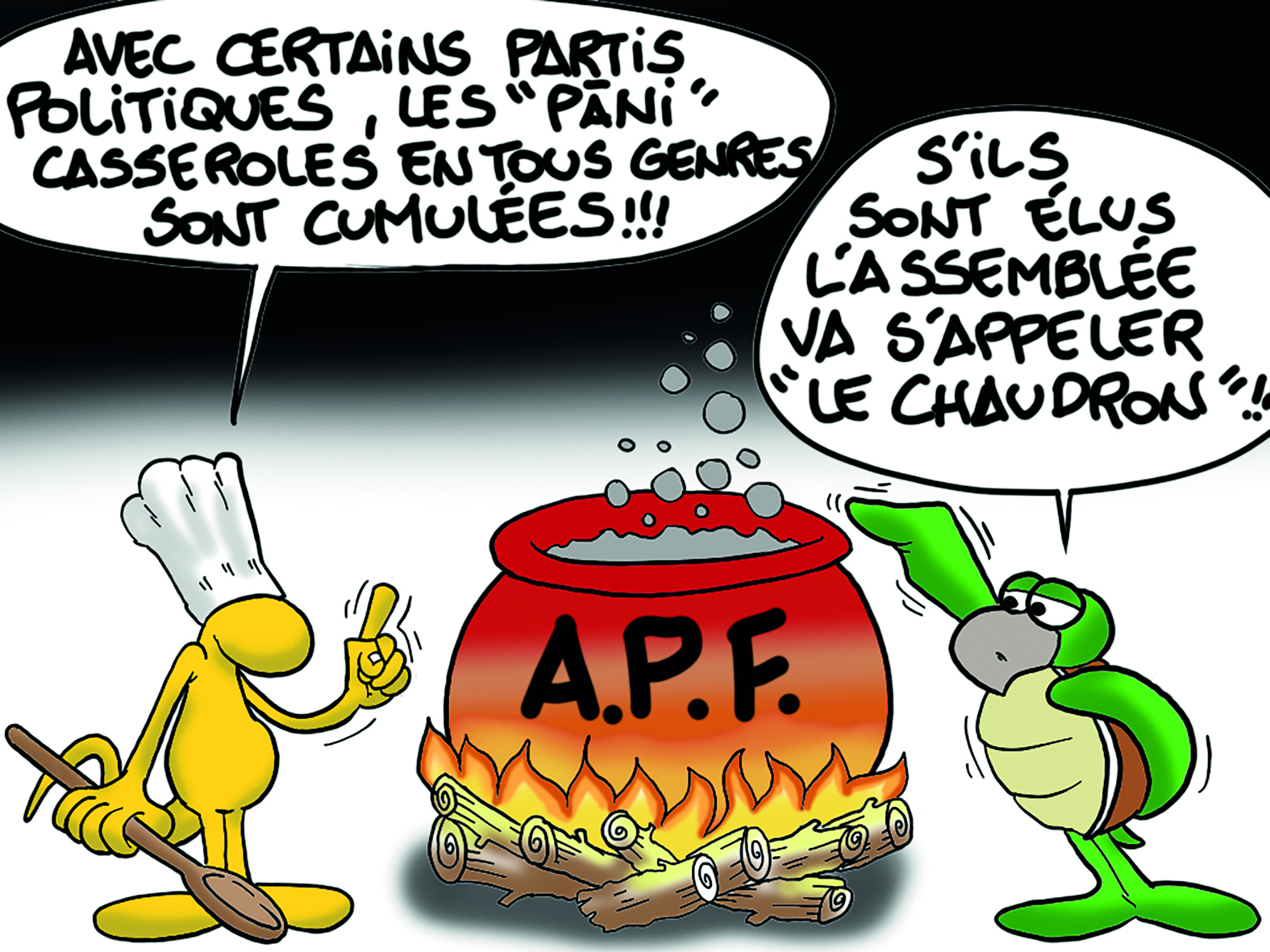 """"""" Le chaudron politique """" par Munoz"""
