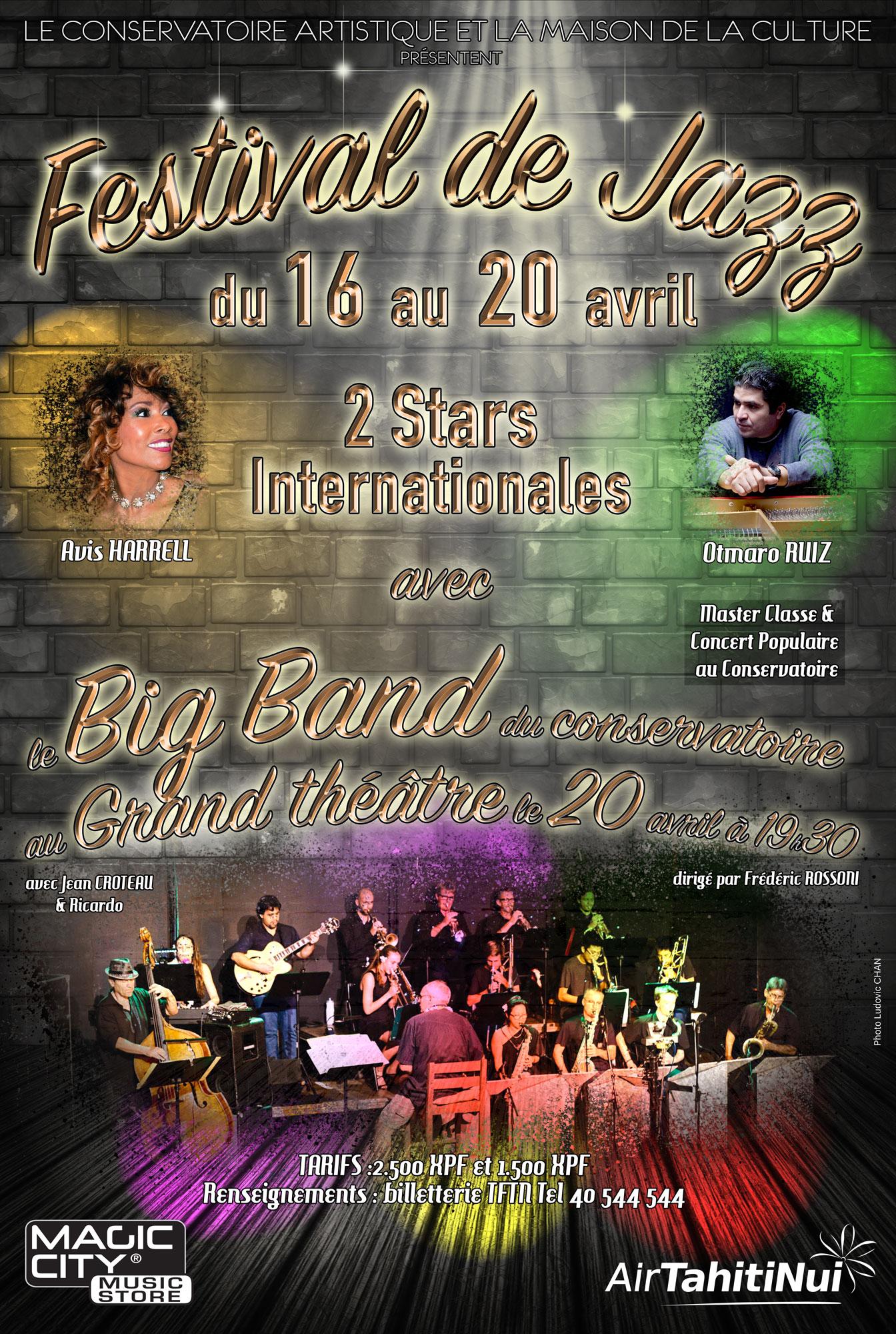Le premier Festival international de jazz aura lieu du 16 au 20 avril à Papeete.