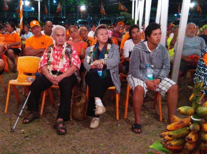 Myron Mataoa apporte son soutien au Tahoera'a Huira'atira