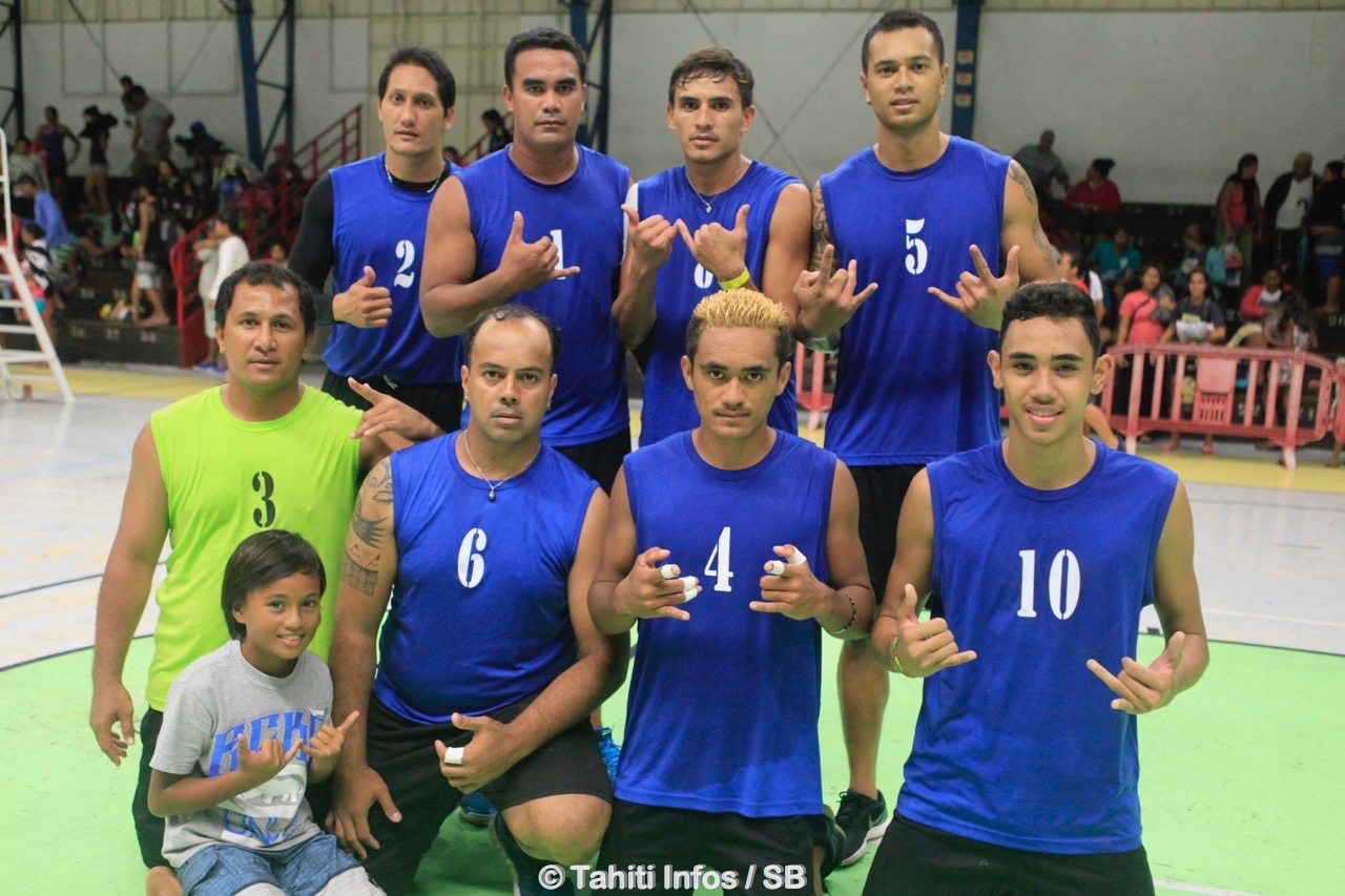 Haamene Nui, l'équipe gagnant en sénior homme