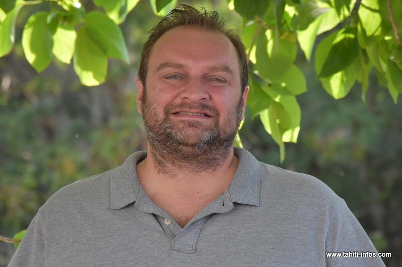 """Jérôme Gasior conduit la liste """"Dignité, bonheur"""" que présente parti Union polynésienne républicaine (UPR) au scrutin du 22 avril pour le renouvellement des représentants de l'assemblée."""