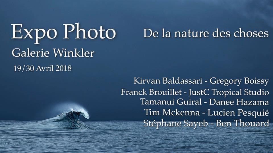 Expo photo: « De la nature des choses » à la galerie Winkler