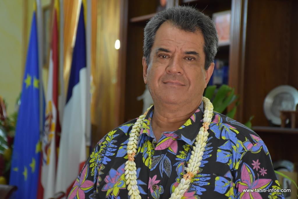 Le président sortant Edouard Fritch conduit la liste Tapura Huiraatira au scrutin du 22 avril pour le renouvellement des représentants de l'assemblée.