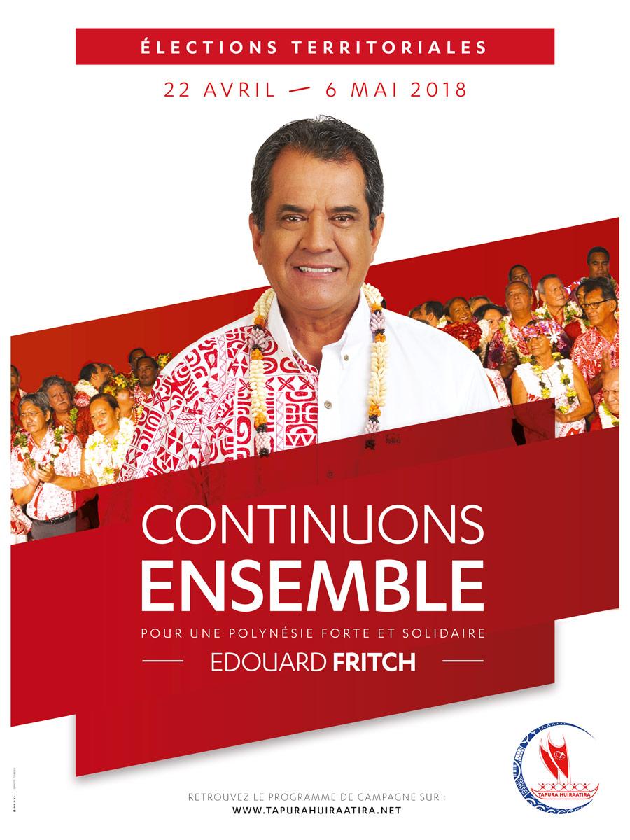 """""""Le changement, c'est nous qui l'avons initié"""", défend Edouard Fritch"""