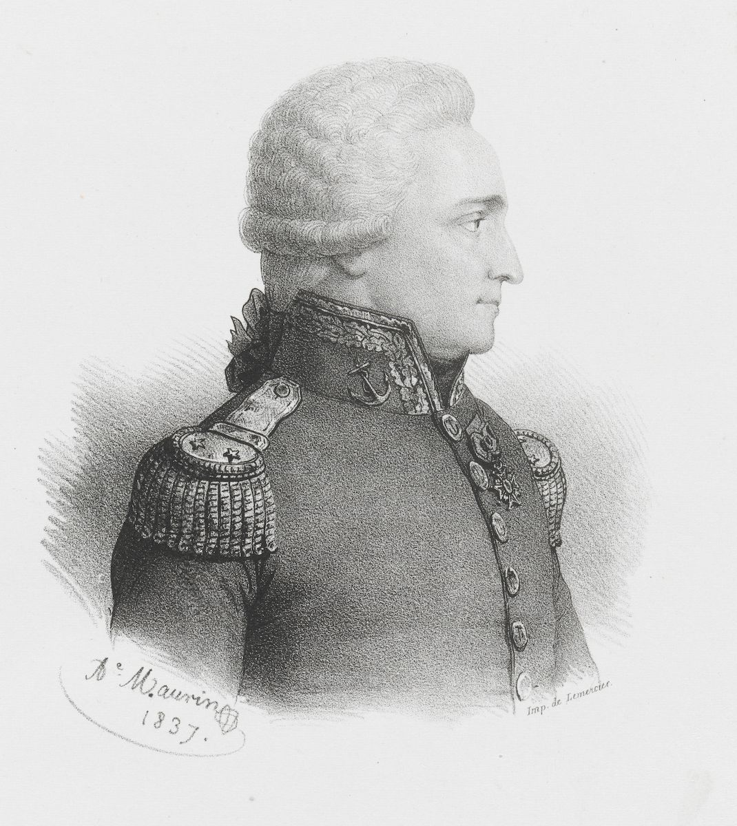 L'un des rares portraits de d'Entrecasteaux qui mourut du scorbut lors de son expédition dans le Pacifique Sud, à la recherche de Lapérouse.