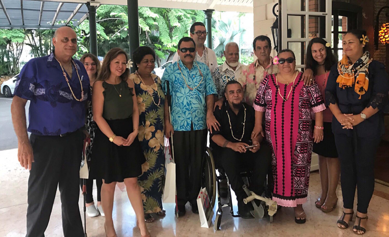 La branche régionale du comité francophone du handicap reçue à la Présidence