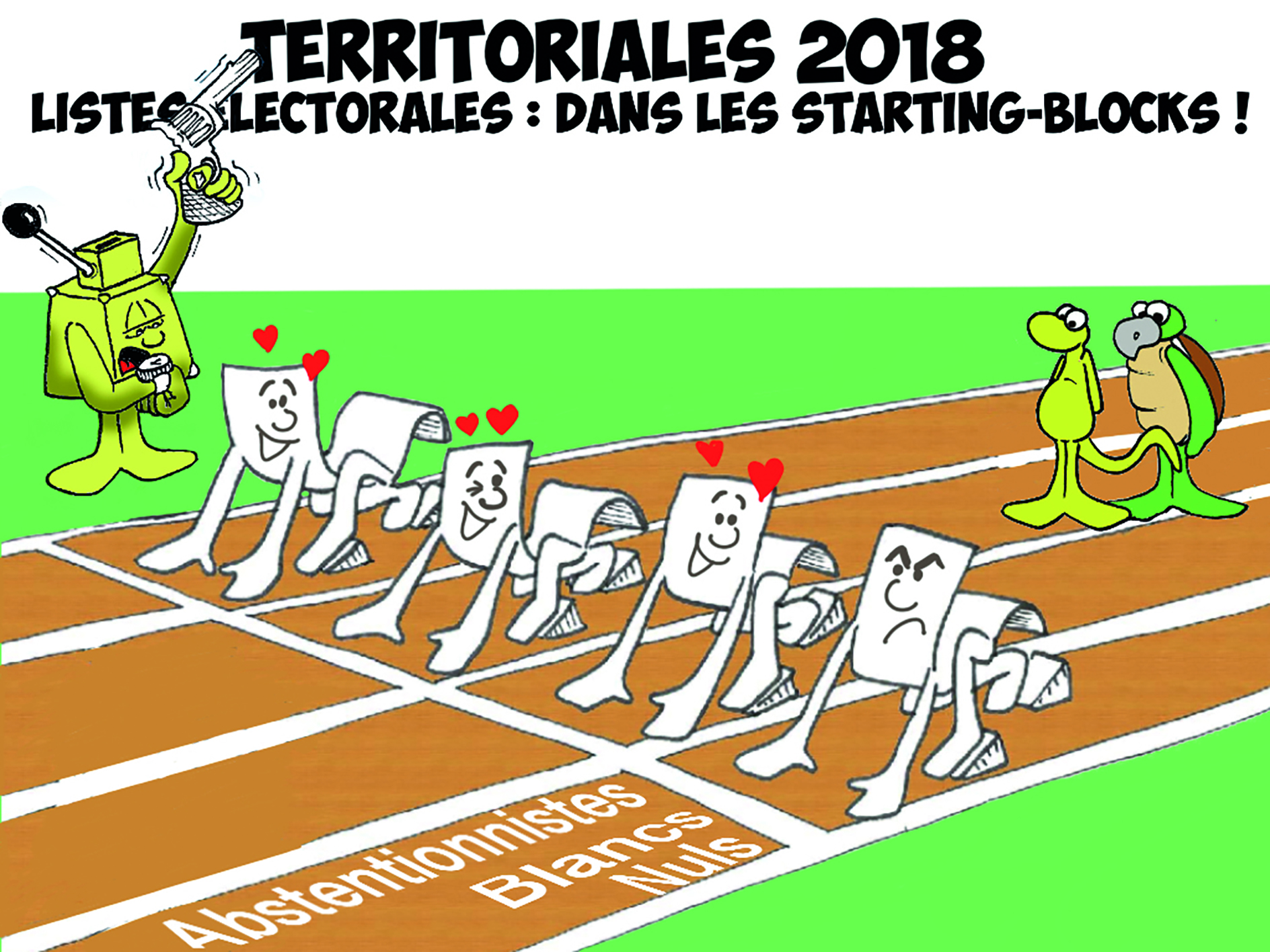 """ Dans les starting-blocks "" par Munoz"