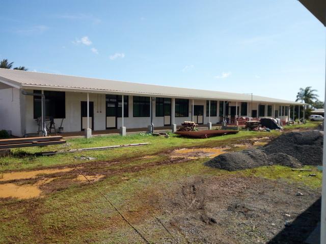 Les bâtiments du futur lycée agricole et aquacole de Taravao sont actuellement en rénovation. Les futurs élèves devraient faire leur rentrée dans leur nouvel établissement scolaire, en août.