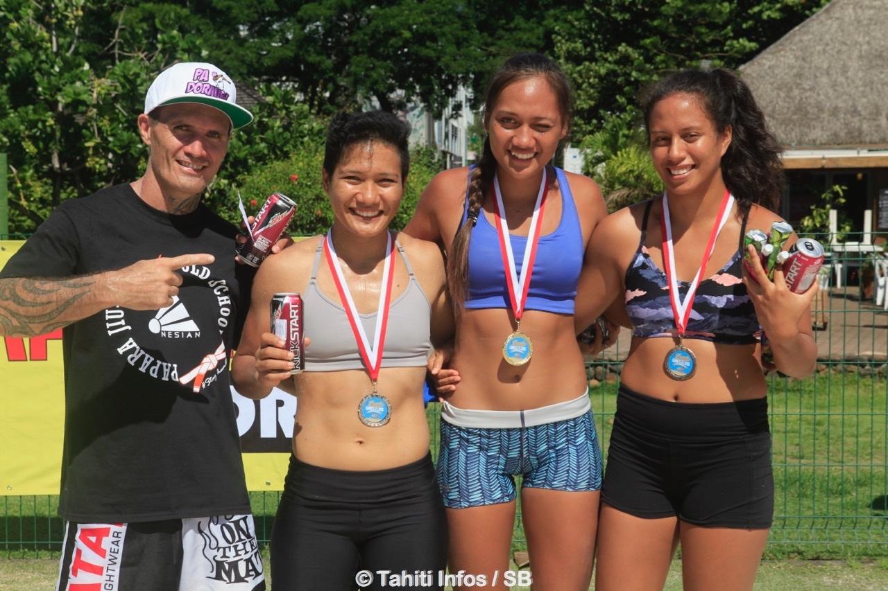 Vaveaiti Barff est devenue championne de Polynésie de beach wrestling