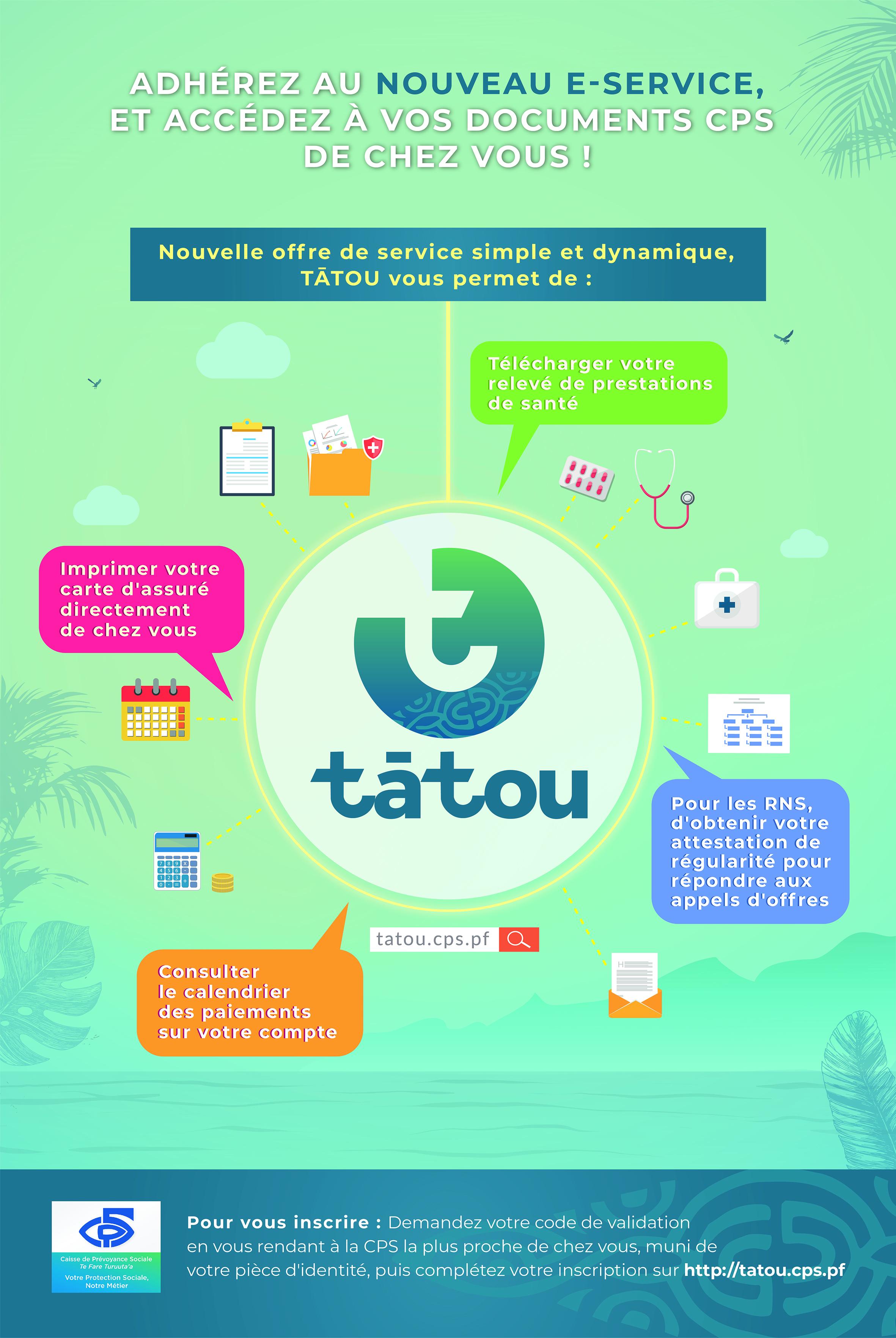 Tātou, la plateforme de e-services des assurés de la CPS