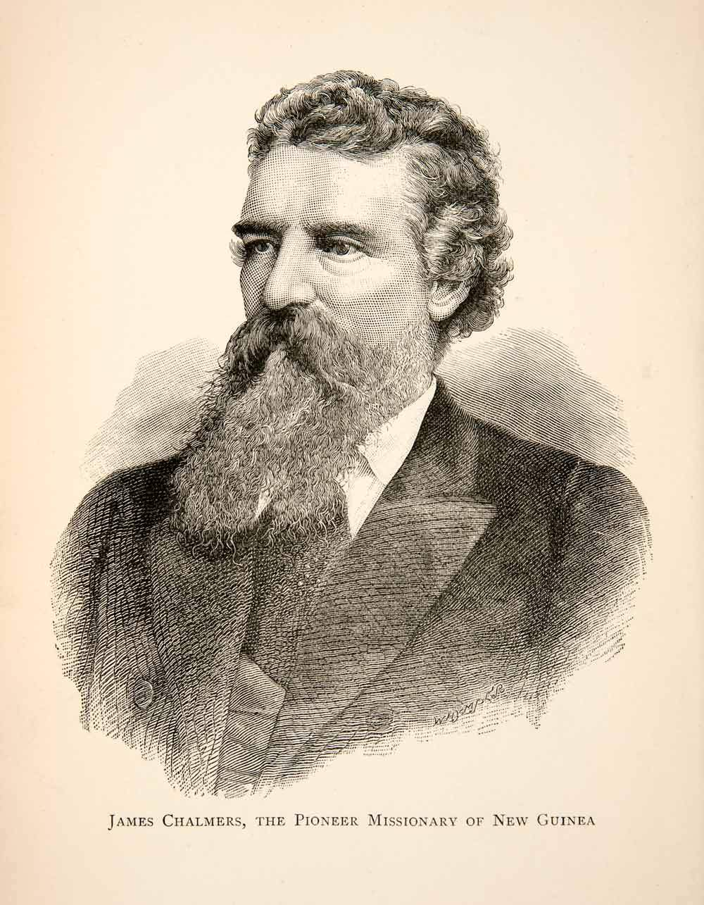Un portrait du pasteur Chalmers peu avant son tragique décès à Goaribari, où il fut tué et dévoré avec tous ses compagnons.
