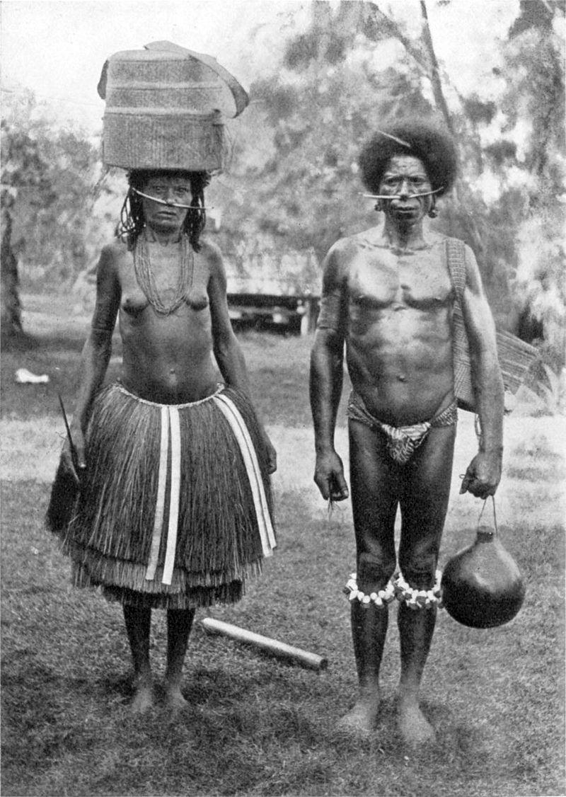 Un chef local, Gaganamole, et son épouse, photographiés au début du XXe siècle.