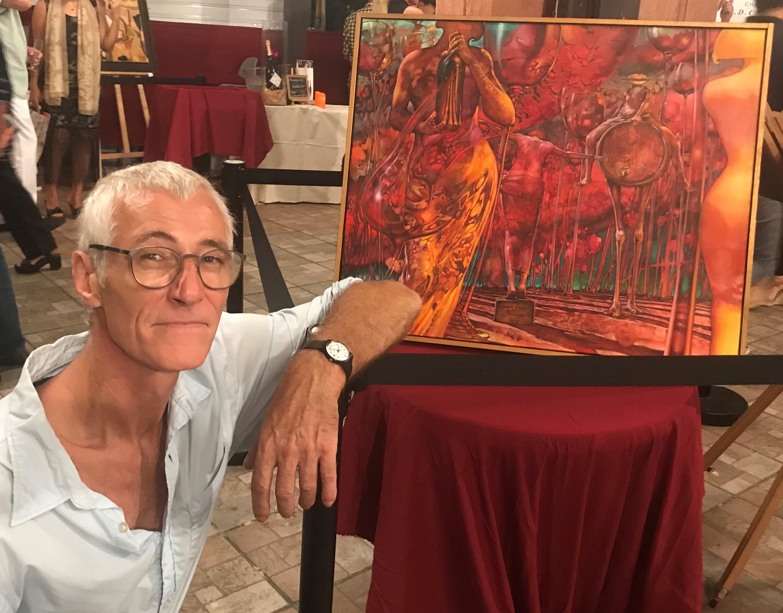 Jean-Luc Bousquet: « Dans le vin il y a l'ivresse et dans la peinture il y a l'ivresse aussi, donc ces deux ivresses se rassemblent. On sait bien que les artistes ont besoin souvent d'un peu de vitamines  pour l'imaginaire et le vin en fait partie. »