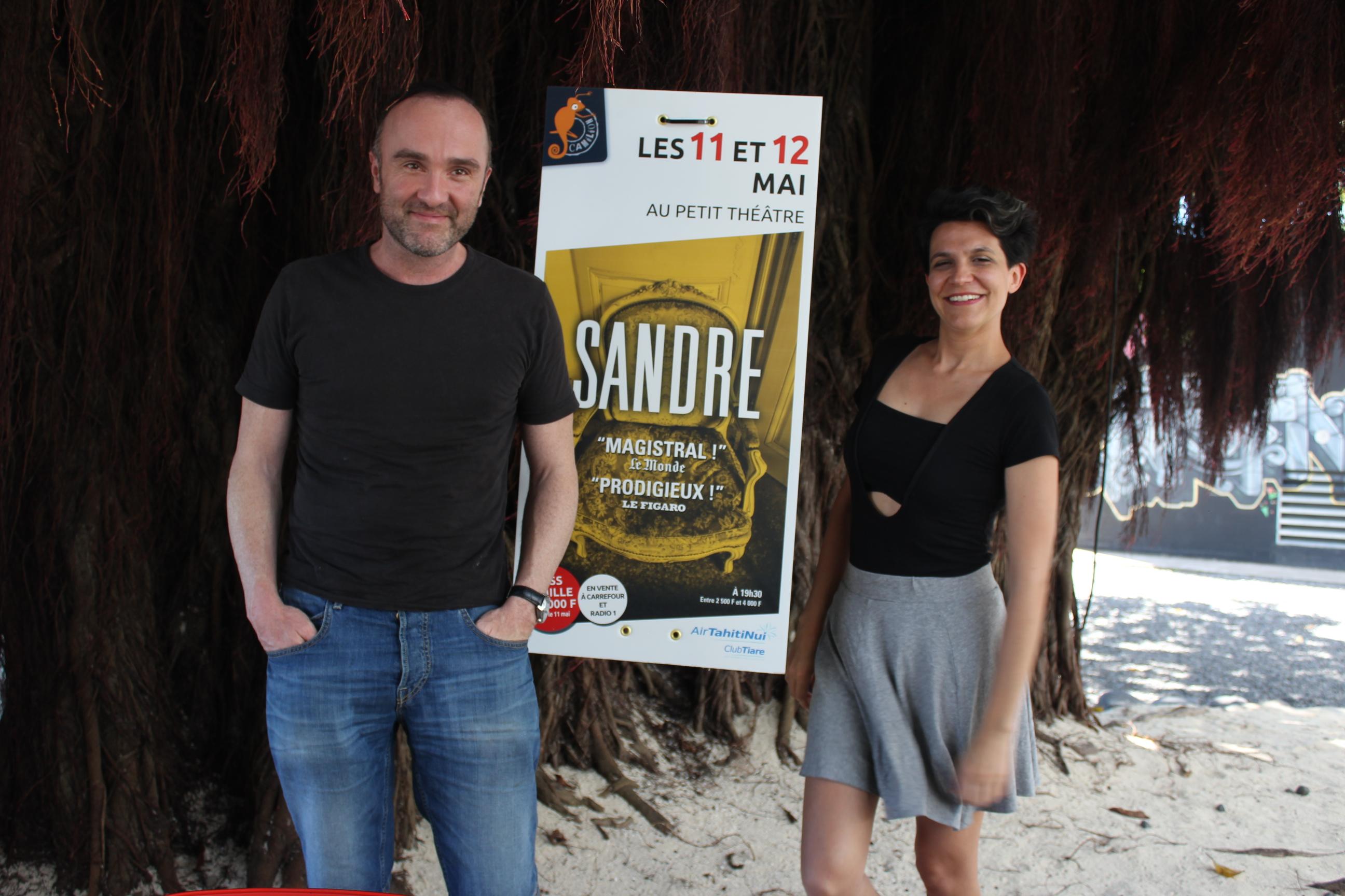 Le comédien, Erwan Daoupharse et l'auteure, Solenn Denis sont de retour au fenua.