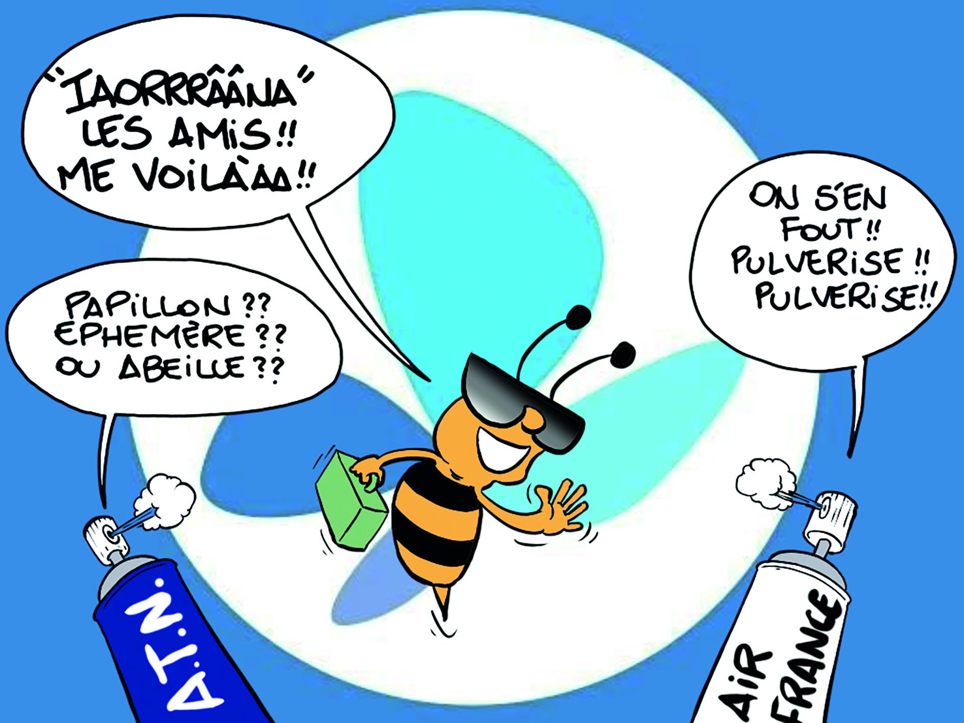 """"""" Ia ora na French bee ! """" par Munoz"""