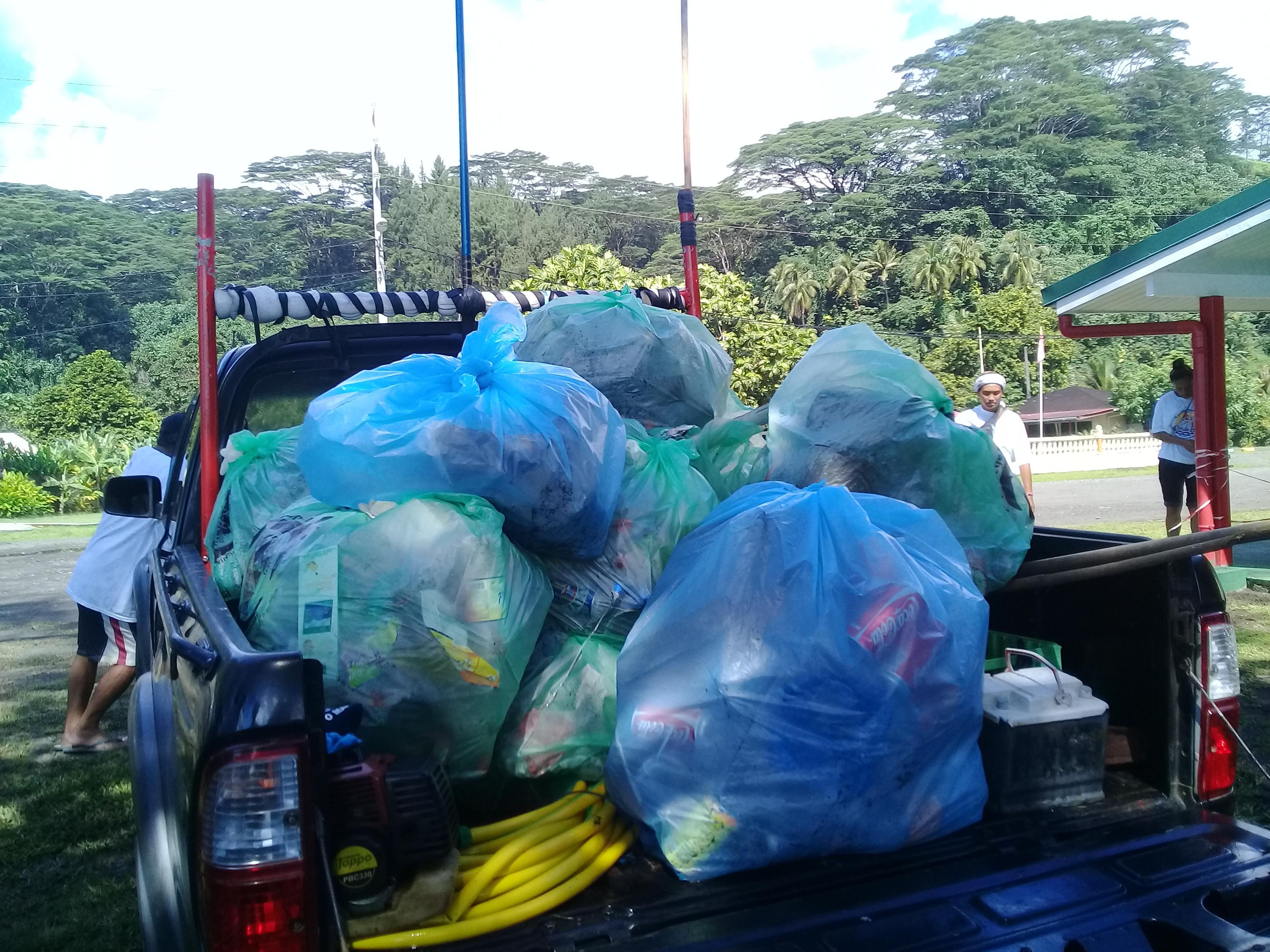 Au total, ce sont 47 sacs poubelles de déchets, tenant dans un camion à benne de 2m3, que ces partisans du respect de l'environnement ont ramassé.