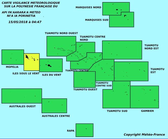 Attention aux orages sur les Îles-Sous-Le-Vent
