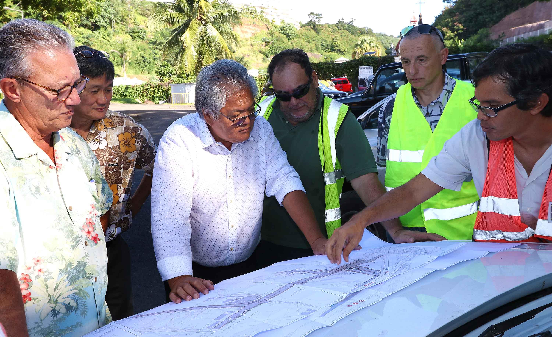Le ministre a effectué une visite des chantiers à Papeete, mercredi dernier.
