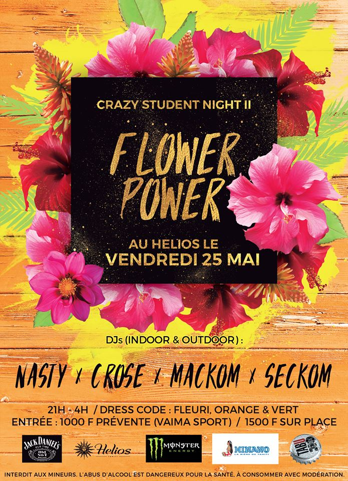 Flower Power : la Crazy Student Night 2 a lieu ce vendredi