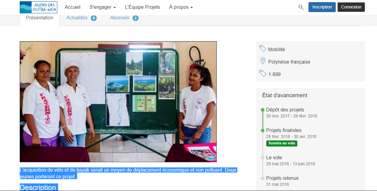 Quatre projets polynésiens retenus aux Assises des outre-mer